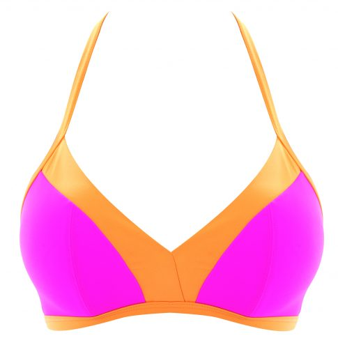 VIRTUE-BRIGHT-PINK-SOFT-TRIANGLE-BIKINI-TOP-AS3876-CUT-OUT-HIPSTER-BRIEF-AS3878