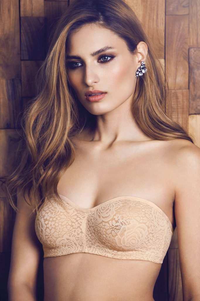 Wacoal Halo Lace Strapless Underwire Bra - Champagne For
